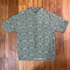 Men's L Patterned Dad Shirt